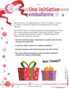 Une initiative emballante