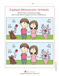 À quelques différences près – Saint-Valentin