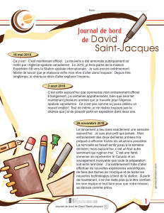 Journal de bord de David Saint-Jacques