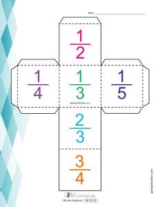 Dé des fractions – 1
