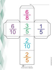 Dé des fractions – 2
