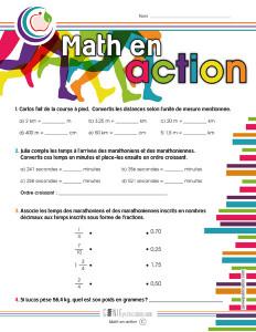 Math en action !