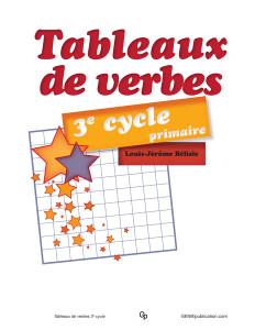 Tableaux de verbes 3e cycle