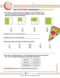 Des fractions totalement appétissantes