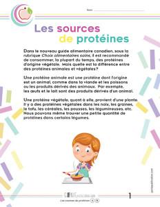 Les sources de protéines