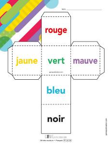 Dé des couleurs – Français