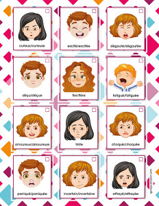 Affiches des émotions