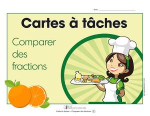 Cartes à tâches – Comparer des fractions
