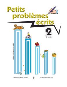 Petits problèmes écrits 2