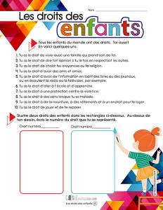 Les droits des enfants – 1ᵉʳ cycle