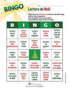 Bingo de lecture de Noël