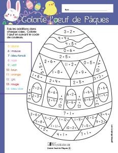 Colorie l'œuf de Pâques