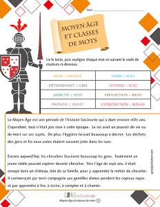 Moyen Âge et classes de mots