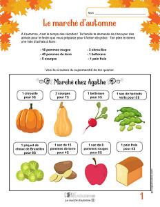 Le marché d'automne