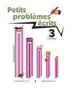 Petits problèmes écrits 3