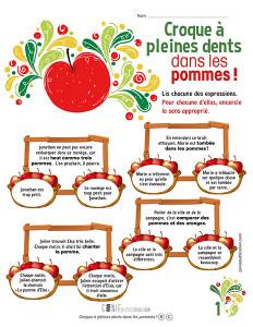 Croque à pleines dents dans les pommes !