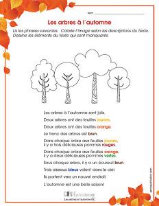 Les arbres à l'automne