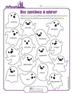 Des fantômes à colorier