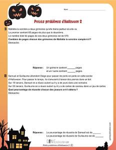 Petits problèmes d'Halloween 2