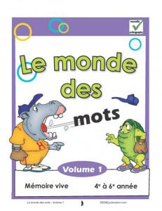 Le monde des mots 1