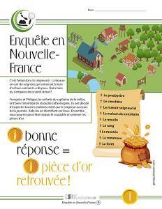 Enquête en Nouvelle-France