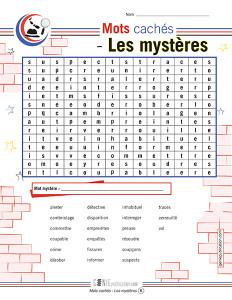 Mots cachés – Les mystères