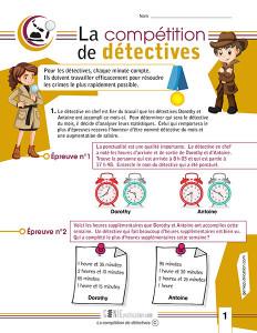 La compétition de détectives