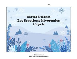 Cartes à tâches – Les fractions hivernales