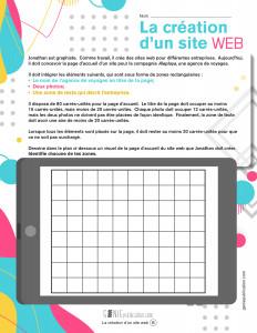 La création d'un site web