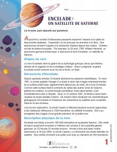 Encelade: un satellite de Saturne