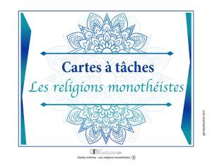 Cartes à tâches – Les religions monothéistes