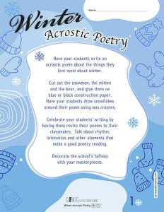 Winter Acrostic Poetry