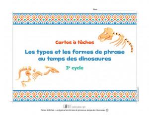 Cartes à tâches - Les types et les formes de phrase au temps des dinosaures