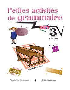 Petites activités de grammaire 3