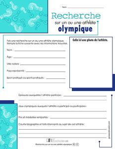 Recherche sur un ou une athlète olympique