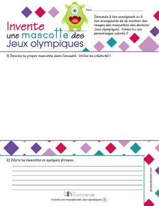 Invente une mascotte des Jeux olympiques