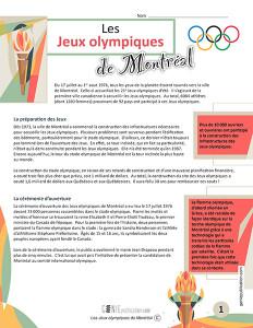 Les Jeux olympiques de Montréal