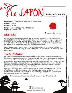 Le Japon, fiche informative