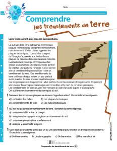 Comprendre les tremblements de terre