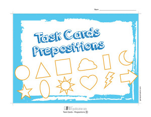 Task Cards - Prepositions