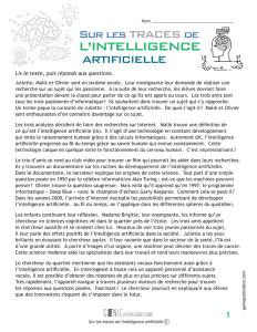 Sur les traces de l'intelligence artificielle