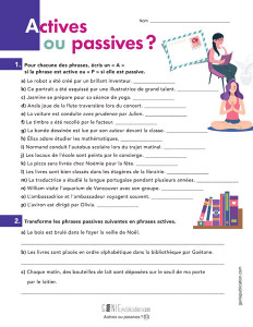 Actives ou passives ?