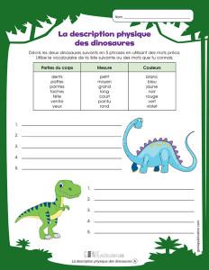 La description physique des dinosaures