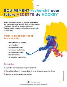 Équipement recherché pour future vedette de hockey