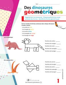 Des dinosaures géométriques