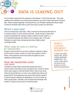 Data is leaking out