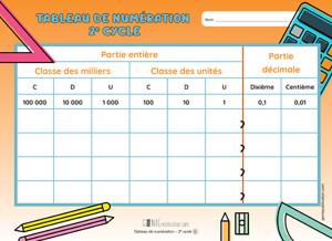 Outil - Tableau de numération 2e cycle