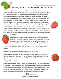 François et la voleuse de fraises