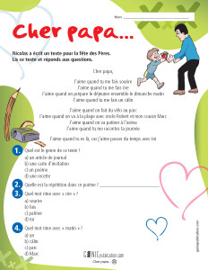 Cher papa...