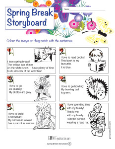 Spring Break Storyboard